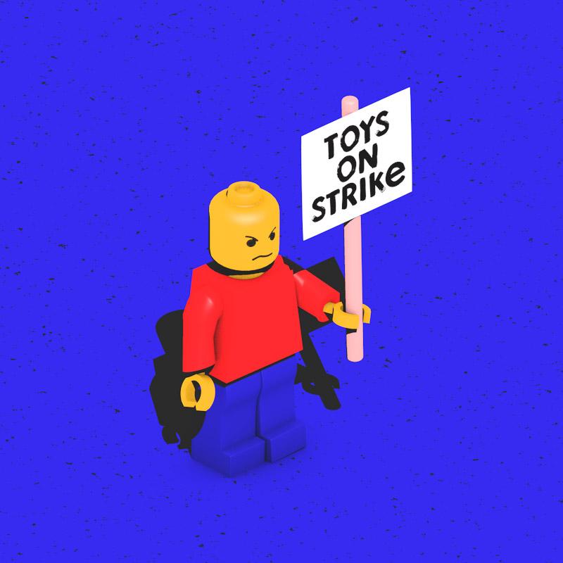 toys on strike motion lego