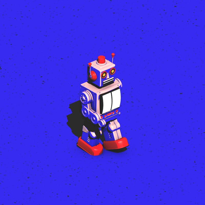 toys on strike motion robot
