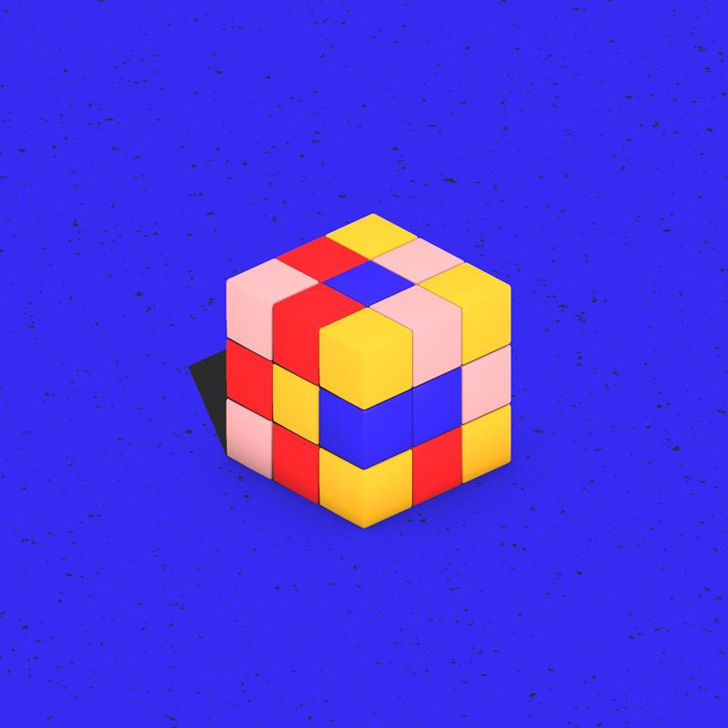 toys on strike motion rubiks cube
