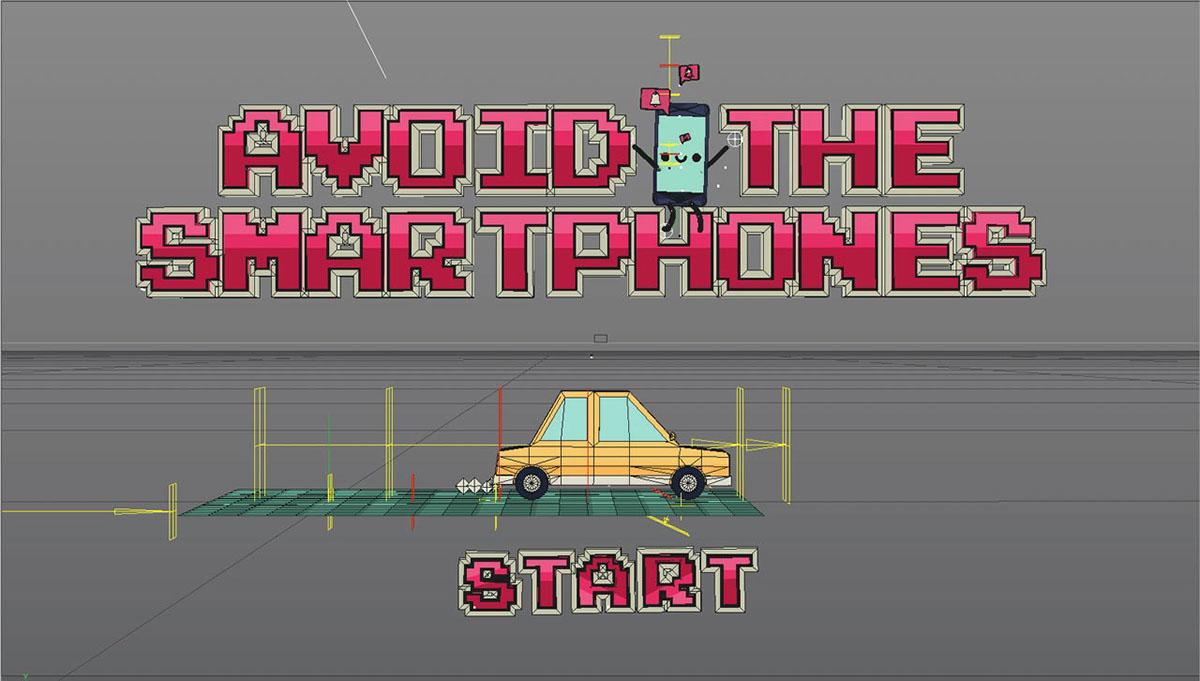Maif smartphone motion breakdown C4D